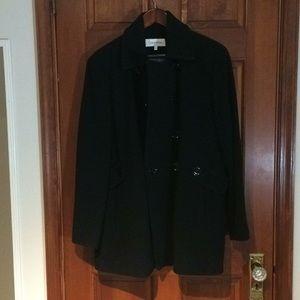 Calvin Klein black pea coat size 1X